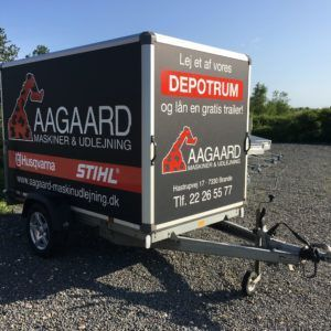 Lej en lukket cargo trailer udlejning