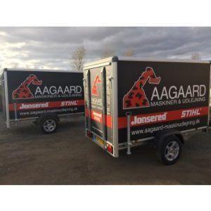 Udlejning af lukket trailer 1300 kg.